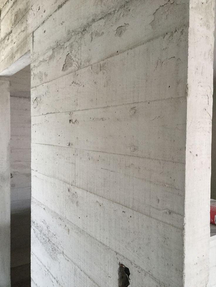 Muro de concreto aparente materiales pinterest - Muros de hormigon ...