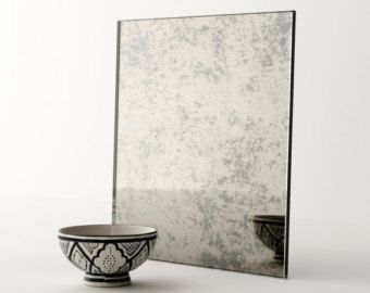 Stormy Antiqued Mirror by Mirror Coop. Handmade mirror perfect
