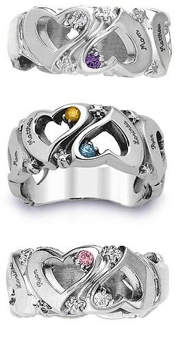 Mother's Ring - Design #1 I'd like this w tri gold