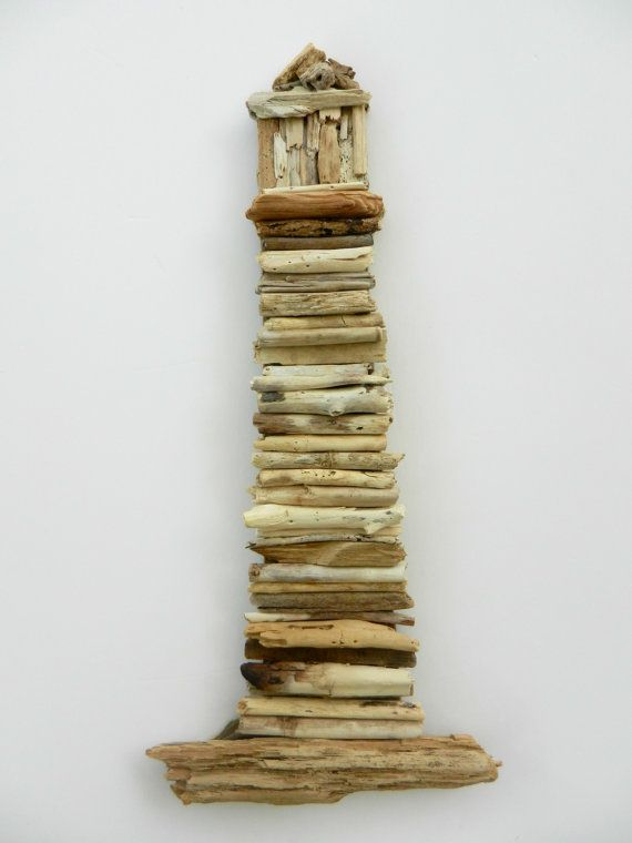 Driftwood Lighthouse Nautical Wall Decor