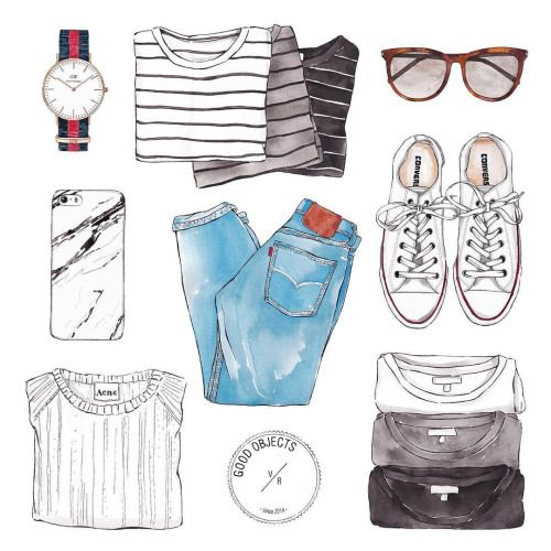 Good objects - Essentials… for guys? for girls? for summer? for winter? … who knows… #goodobjects #illustration