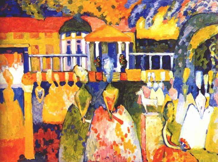 Crinolines, huile sur toile de Wassily Kandinsky (1866-1944, Russia)