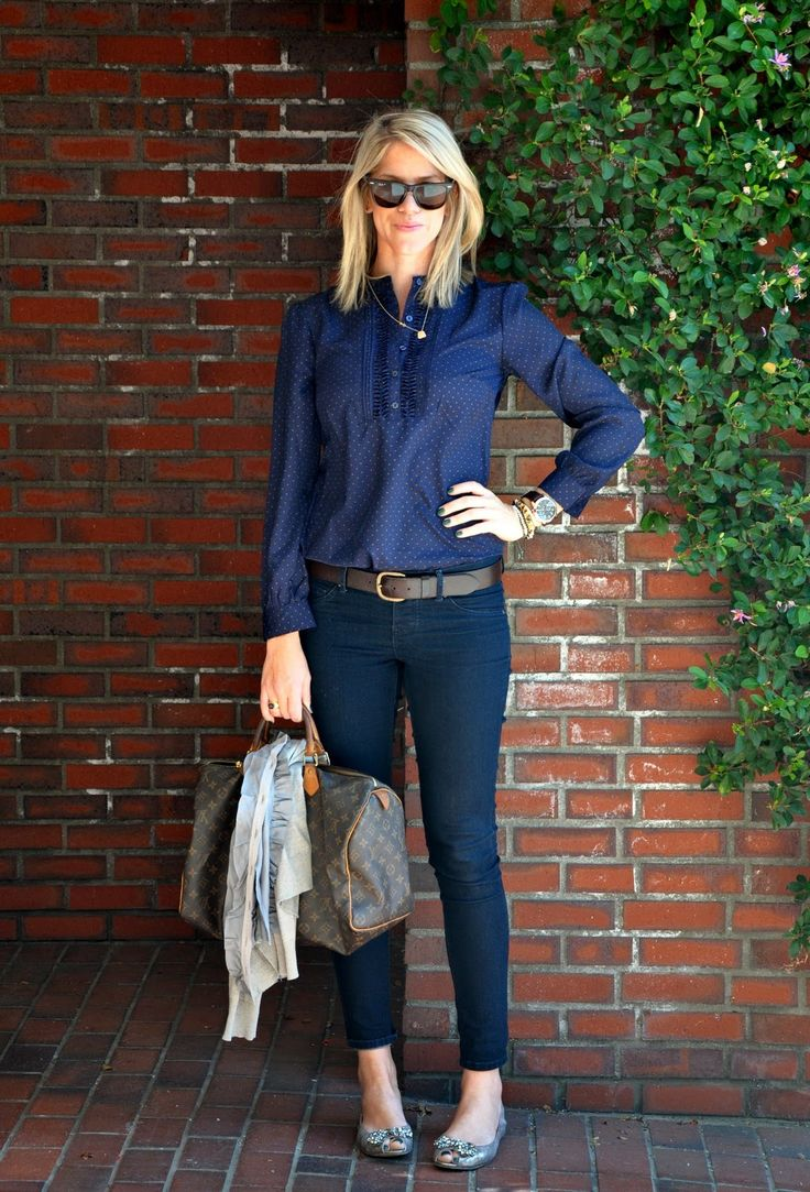 Love blouse and pants they look like the ones I would like to have, straight navy jeans or navy pants but not super skinny