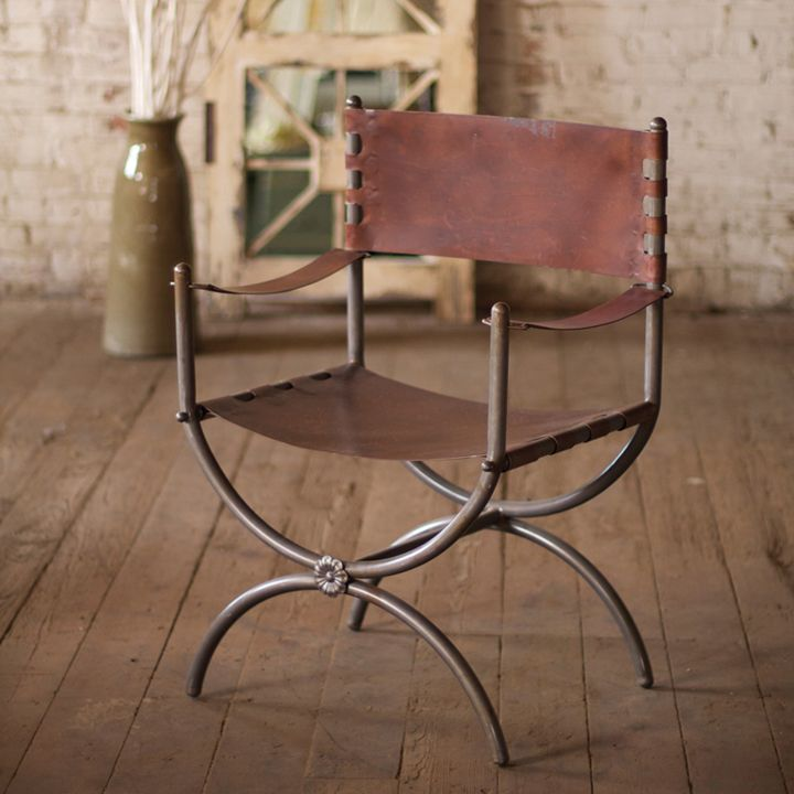 Rustic And Raw Finish Metal Arm Chair   Eclectic   Chairs   Atlanta   Iron  Accents