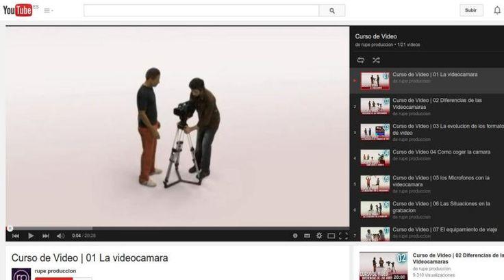 Un excelente curso de vídeo en español, ofrecido en 21 vídeos alojados en YouTube, para conocer los componentes de las cámaras y las técnicas de grabación.