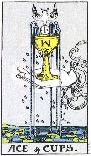An Ace means a fresh start. It tells us about a new beginning in desires, emotions, and spiritual experiences. Since it's the first card of its suite, it predicts that a new situation is about to begin. So, if you've been trying to start something new, change directions, or gain a new insight into something, you are going to. The Ace of cups especially talks about our need to search for the truth and us finding it. Sign up for my newsletter! http://jonikatarot.com