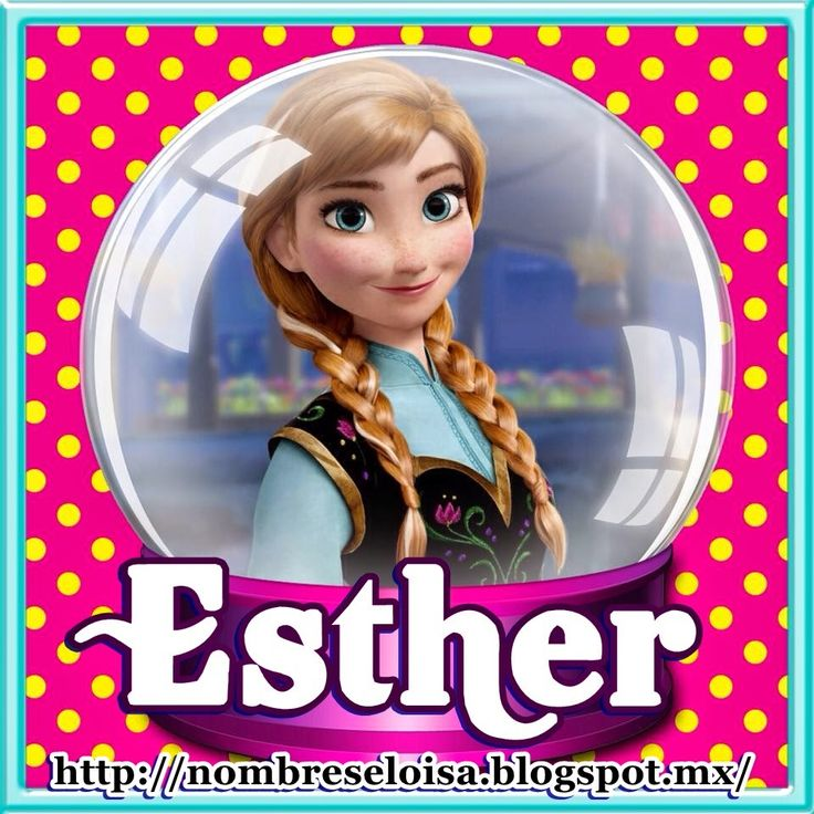 Resultado de imagen para nombre de Esther tarjeta