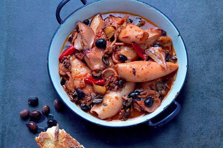 Umido di calamari con olive nere
