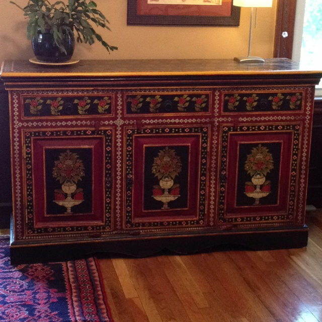 Craigs List Find Hand Painted Indian Sideboard 5 By 2