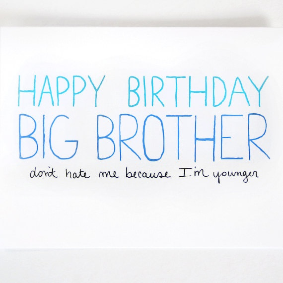 Big Brother Birthday Card By JulieAnnArt, $4.00