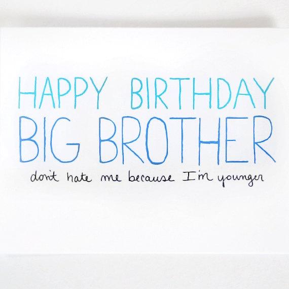 Big Brother Birthday Card By JulieAnnArt, $4.00