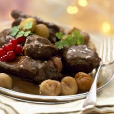 Recette de civet de chevreuil aux marrons