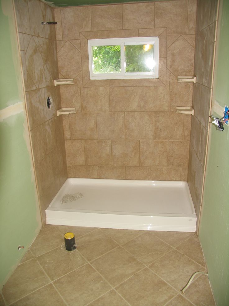 Stand Up Shower And Floor Tile In 2019 Shower Remodel