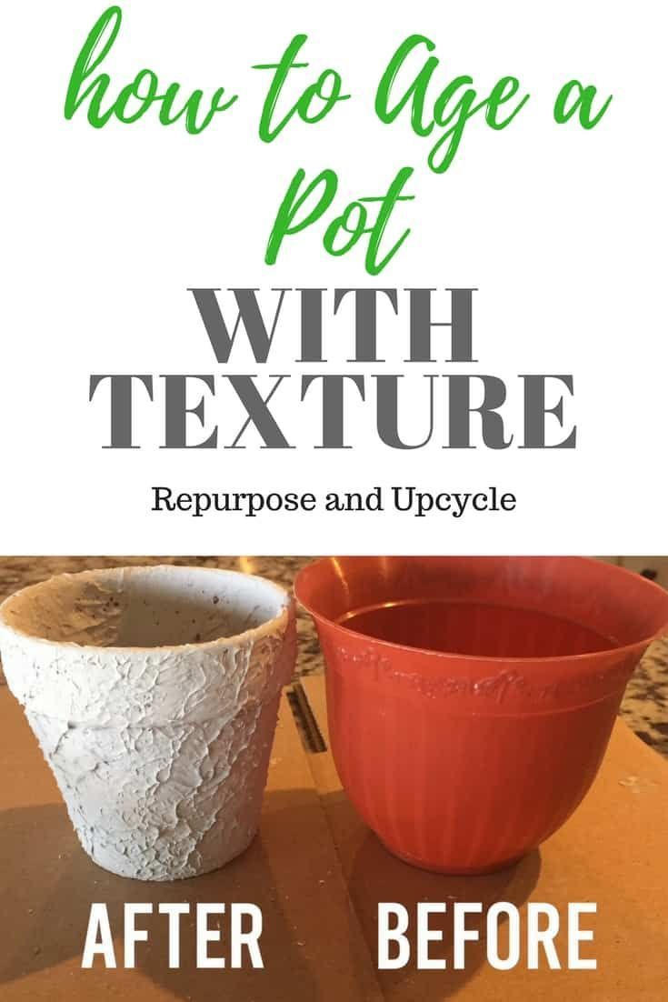 How To Age A Pot With Texture For An Antique Vintage Look In 2020 Antiques Clay Pots Vintage Decor