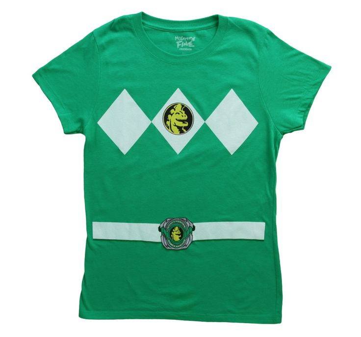 Womens Green Power Rangers Costume T-Shirt