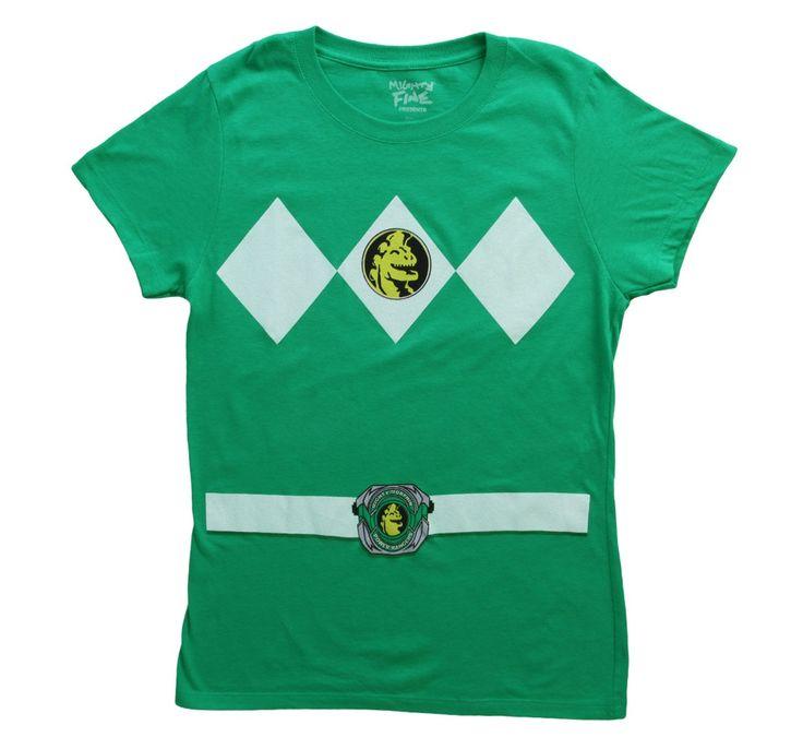 Womens Green Power Rangers Costume T-Shirt