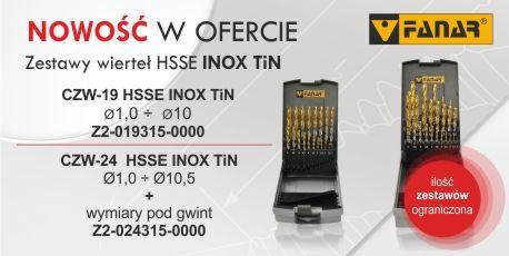 Zestawy wierteł HSSE INOX TiN: Zestaw CZW-19 HSSE INOX TiN - Z2-019315-0000 Zestaw CZW-24 HSSE INOX TiN - Z2-024315-0000 http://www.fanar.pl/zestawy-wiertel-hsse-inox-tin/