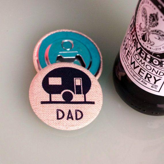 Caravan Lover magnetic bottle opener personalised bottle