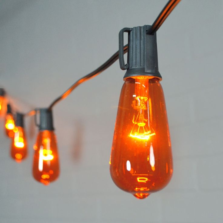 transform your haunted house or halloween party into a chic event with the orange bulb design of our edison styled globe string lights - Halloween Light Bulbs