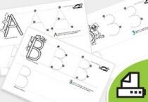 Printable Russian letter tracing