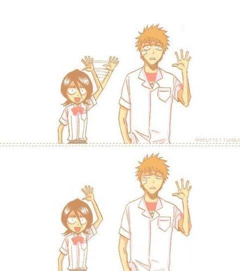 Ichigo and Rukia from Bleach