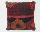 sophisticate kilim pillow chevron pillow case handmade pillow sham large pillow case sofa cushion cover kilim floor pillow burgandy 26295
