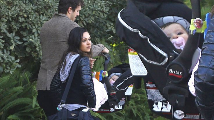 It's a busy life when you have parents this famous! Baby Wyatt Isabelle Kutcher enjoyed a day out on Sunday with her parents, Mila Kunis and Ashton Kutcher, as well as her grandparents! Feb 8th, 2015.