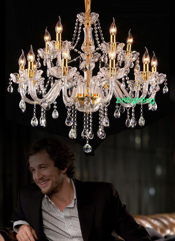 Хрустальная люстра свет для столовой спальня люстра из светодиодов большой современная хрустальная люстра для гостиной люстры де сала хрустальная люстра