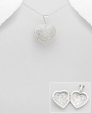 Medalion inimioara care se deschide din argint 17-1-i49134  | SilverZone.ro
