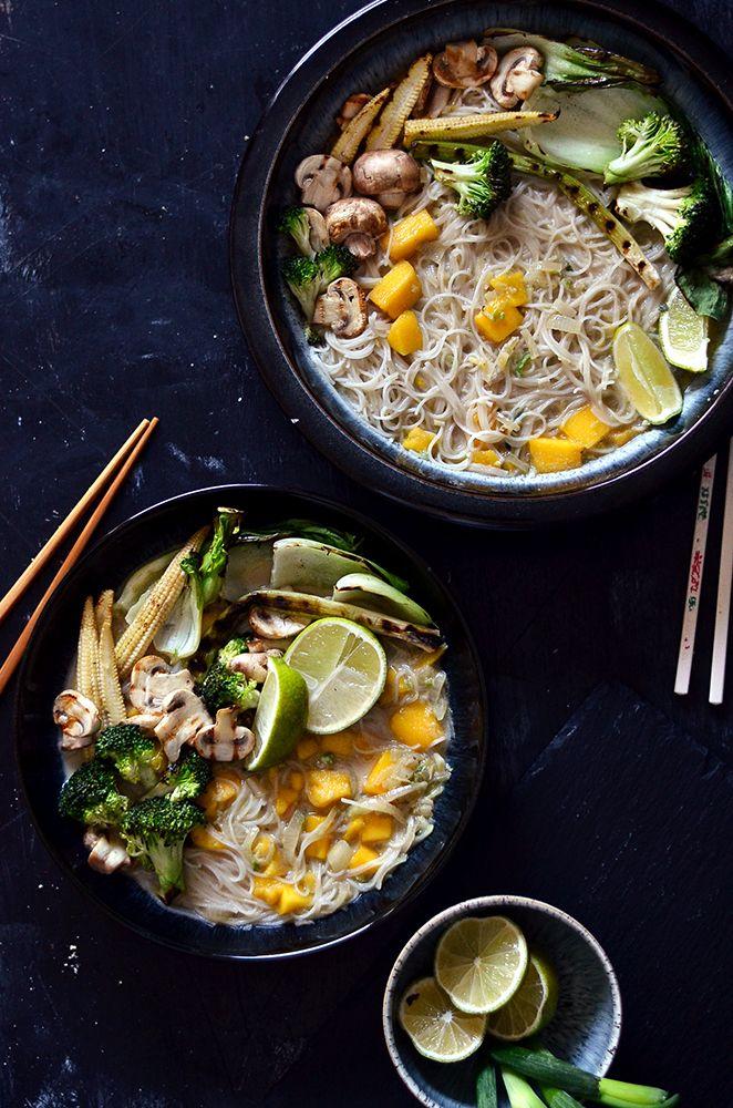 Thai Mango & Coconut Noodle Bowl   The Hungry Herbivores