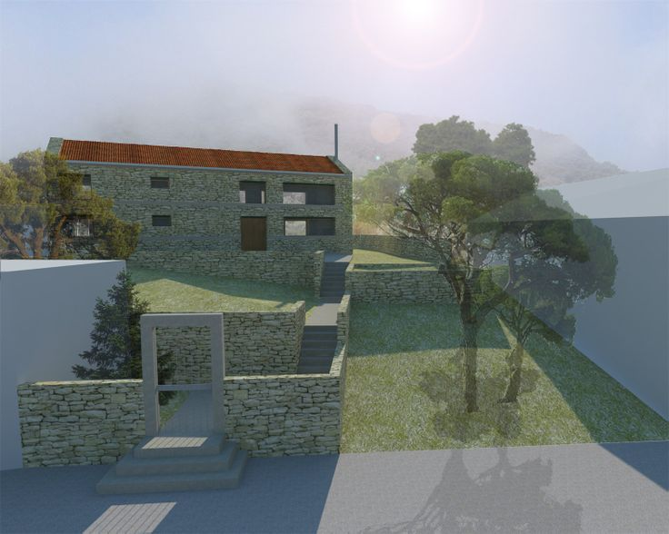 project_Small mountain house in Messinia | phase_Proposal | title_3d | pin architecture_Petroula Sepeta◦Ioanna Chamilou◦Natasa Markopoulou | year_2008