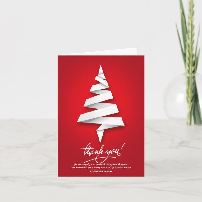 Custom Business Holiday Thank You Cards Zazzle Com In 2020 Holiday Design Card Business Holiday Cards Holiday Card Template