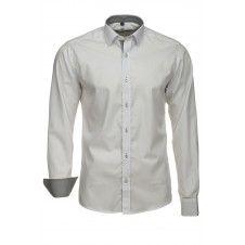 Koszula w kolorze białym z grafitową koordynacją