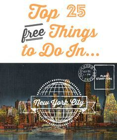 Top 25 FREE Things to Do in New York City