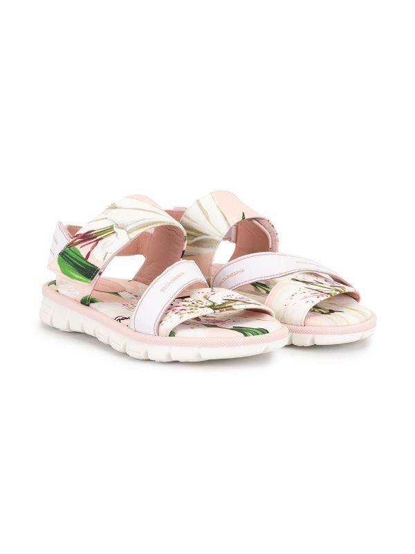 Dolce & Gabbana Kids Floral Print Sandals Farfetch | Dolce