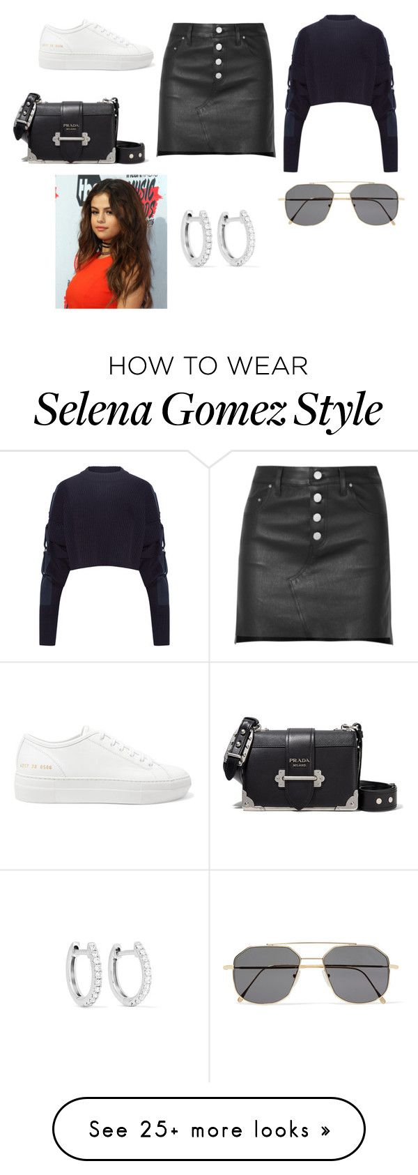 """""""Sin título #4650"""" by ceciamuedo on Polyvore featuring Y/Project, AMIRI, Common Projects, Prada, Illesteva and Anita Ko"""