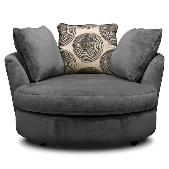 Cordelle Swivel Chair Gray Value City Furniture And Mattresses Lounge Chair Bedroom Round Swivel Chair Swivel Chair