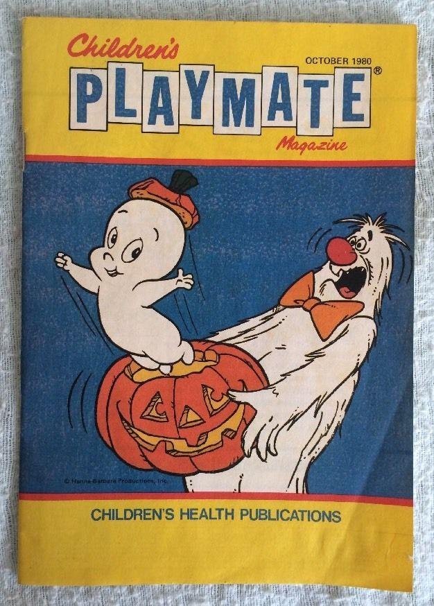 Children's PLAYMATE Magazine Vol 52 #4 Oct 1980 Casper The Friendly Ghost Pics!