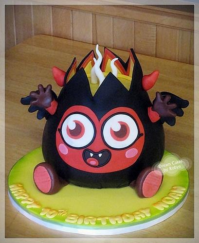 Moshi Monster Cake - Diavlo