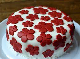 red birthday cake - Google Search