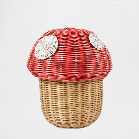MUSHROOM-SHAPED BASKET - To Organise - Decoration | Zara Home United States
