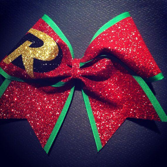 3in. Glitter Robin Superhero Cheer Bow