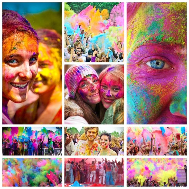 Holi Festival Collage | Created with @Slidely, the best way to explore and share photo & video collections in beautiful and creative ways. Check it out! https://slide.ly/collage/create