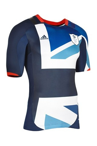 Techfit powerweb football jersey top from Team GB London 2012 kit, designed by Stella McCartney