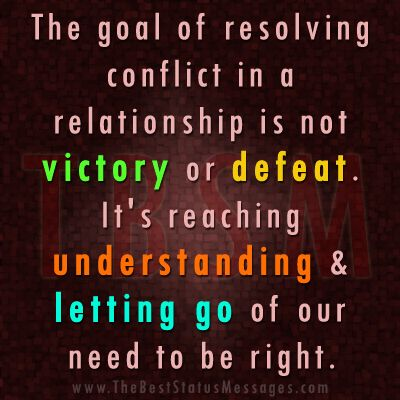relationship conflict resolution model Conflict is a noticeable disagreement among employees or groups of employees  depending on the situation, management may need to take different steps to.