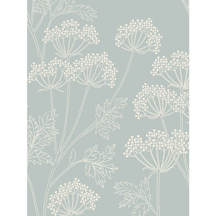 John Lewis & Partners Cow Parsley Wallpaper, Mineral Trong