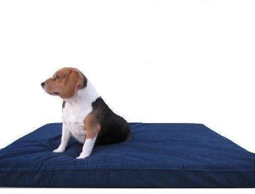 Memory Foam Pad Waterproof Denim Cover Pet Bed for Medium Large Dog