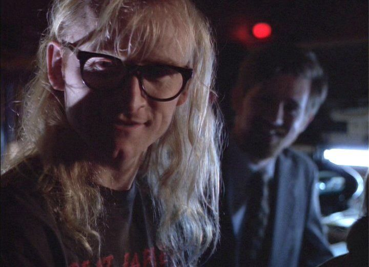 Langley (Dean Haglund) and Byers (bruce Harwood) .  X-Files