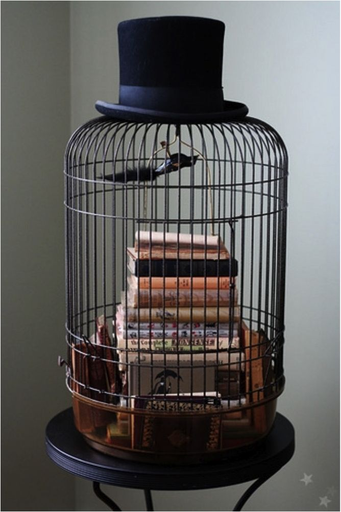 228 best decorating with bird cages images on pinterest for Cage d oiseau decorative