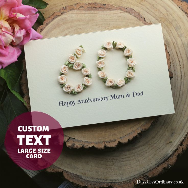 diamond wedding anniversary card gift parents anniversary